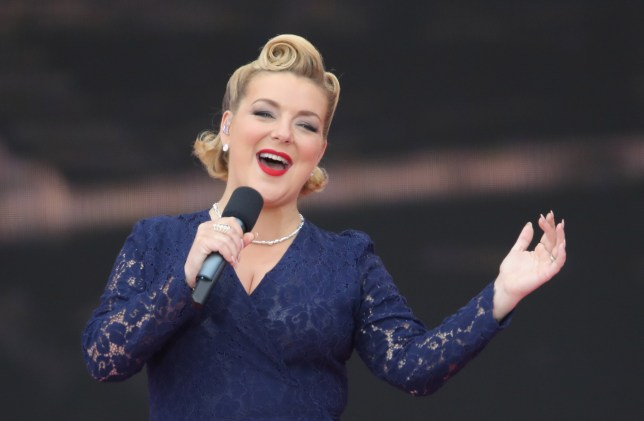 Sheridan Smith performing during the commemorations for the 75th Anniversary of the D-Day landings