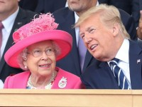 PORTSMOUTH, ENGLAND - JUNE 05: Queen Elizabeth II and US President, Donald Trump attend the D-day 75 Commemorations on June 05, 2019 in Portsmouth, England. The political heads of 16 countries involved in World War II joined Her Majesty, The Queen is on the UK south coast for a service to commemorate the 75th anniversary of D-Day. Overnight it was announced that all 16 had signed an historic proclamation of peace to ensure the horrors of the Second World War are never repeated. The text has been agreed by Australia, Belgium, Canada, Czech Republic, Denmark, France, Germany, Greece, Luxembourg, Netherlands, Norway, New Zealand, Poland, Slovakia, the United Kingdom and the United States of America. (Photo by Chris Jackson-WPA Pool/Getty Images *** BESTPIX ***
