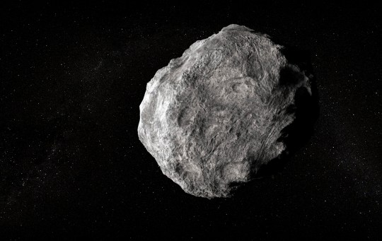 Asteroid, computer graphics.