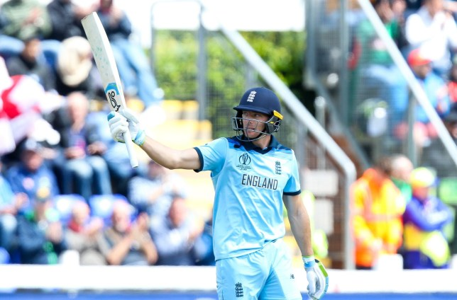 **IMAGE OUTSIDE OF SUBSCRIPTION DEAL, FEES APPLY, PLEASE CONTACT YOUR ACCOUNT MANAGER** Mandatory Credit: Photo by Robbie Stephenson/JMP/REX (10298771au) Jos Buttler of England celebrates reaching 50 England v Bangladesh, UK - 08 Jun 2019