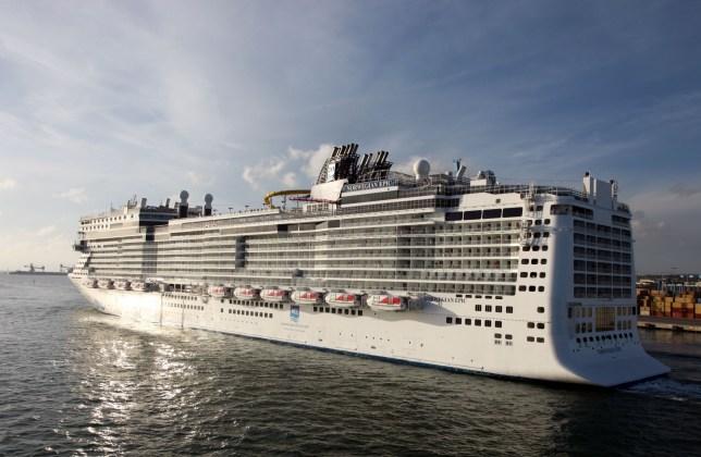 Mandatory Credit: Photo by Ros Drinkwater/REX (1881239g) Norweigan Epic, cruise ship, Barcelona Various - 2012