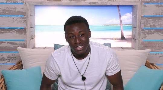 Editorial Use Only. No Merchandising. No Commercial Use. Mandatory Credit: Photo by ITV/REX (10299405ac) Sherif Lanre 'Love Island' TV Show, Series 5, Episode 6, Majorca, Spain - 09 Jun 2019 The Couples Get to Know Each Other Over Breakfast Anton Makes a Play for Molly-Mae The Islanders Share Secrets in a Game Around the Fire Pit Sherif Opens Up to Anna Michael Has Got His Eye on Amber New Boy Danny Chooses to Take Yewande on a Date