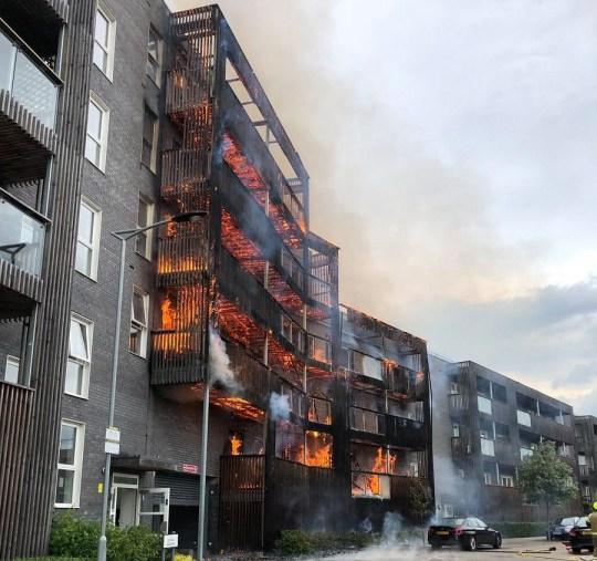 Barking Fire: Huge Blaze Rips Through Block Of Flats In