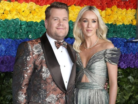 James Corden all loved up with wife Julia as he hosts Tony Awards for second year