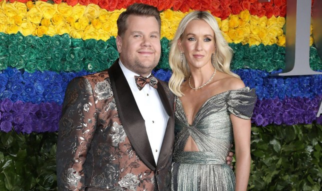 Mandatory Credit: Photo by Kristina Bumphrey/StarPix/REX (10299640c) James Corden and Julia Carey 73rd Annual Tony Awards, Arrivals, Radio City Music Hall, New York, USA - 09 Jun 2019
