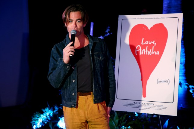 "HOLLYWOOD, CALIFORNIA - JUNE 09: Chris Pine speaks during the 10th anniversary screening of ""Star Trek"" at Hollywood Forever and trailer premiere of ""Love, Antosha"" at Hollywood Forever on June 09, 2019 in Hollywood, California. (Photo by Phillip Faraone/Getty Images for Lurker Productions / Love, Antosha )"