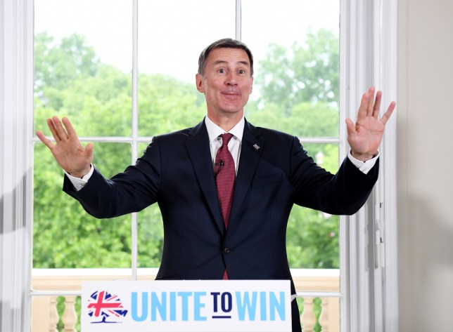 Britain's Foreign Secretary Jeremy Hunt speaks as he launches his bid to become the leader of the Conservative Party in central London, Britain, 10 June 2019.