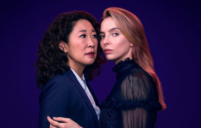 sandra oh and jodie comer as eve and villanelle from killing eve