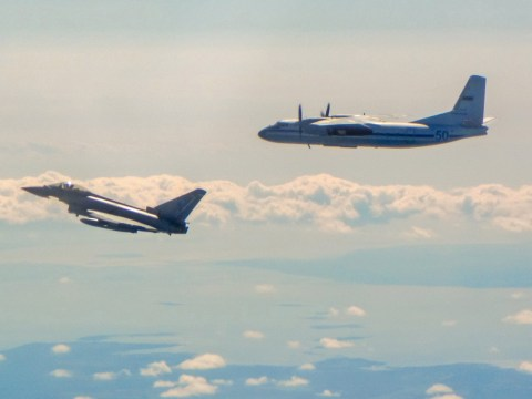 RAF scrambles fighter jets to intercept Russian aircraft