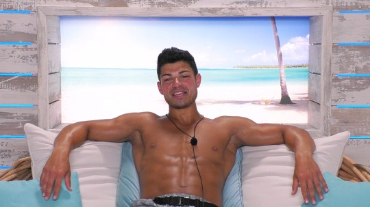 From ITV Studios Love Island: SR5: Ep8 on ITV2 Pictured: Anton. This photograph is (C) ITV Plc and can only be reproduced for editorial purposes directly in connection with the programme or event mentioned above, or ITV plc. Once made available by ITV plc Picture Desk, this photograph can be reproduced once only up until the transmission [TX] date and no reproduction fee will be charged. Any subsequent usage may incur a fee. This photograph must not be manipulated [excluding basic cropping] in a manner which alters the visual appearance of the person photographed deemed detrimental or inappropriate by ITV plc Picture Desk. This photograph must not be syndicated to any other company, publication or website, or permanently archived, without the express written permission of ITV Picture Desk. Full Terms and conditions are available on the website www.itv.com/presscentre/itvpictures/terms For further information please contact: james.hilder@itv.com / 0207 157 3052