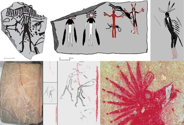These incredible prehistoric artworks were made 5,000 years ago during the Bronze Age  (Image: Vladimir Kubarev/IAET SB RAS)