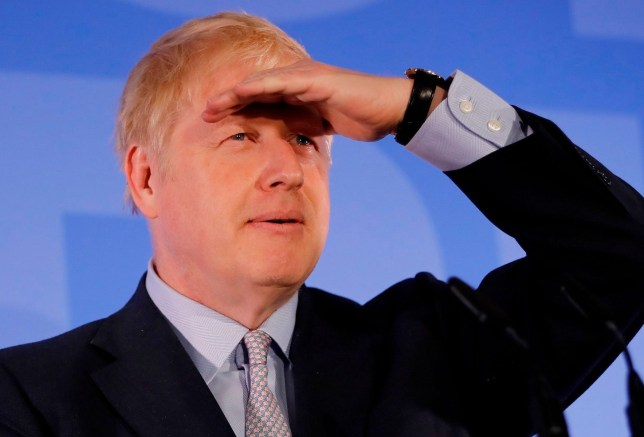 """Conservative MP Boris Johnson listens to one of six questions during his Conservative Party leadership campaign launch in London on June 12, 2019. - Boris Johnson launched his campaign Wednesday to replace Theresa May as Britain's next leader, as lawmakers moved to stop him and other hardliners from delivering a """"no deal"""" Brexit. (Photo by Tolga AKMEN / AFP)TOLGA AKMEN/AFP/Getty Images"""