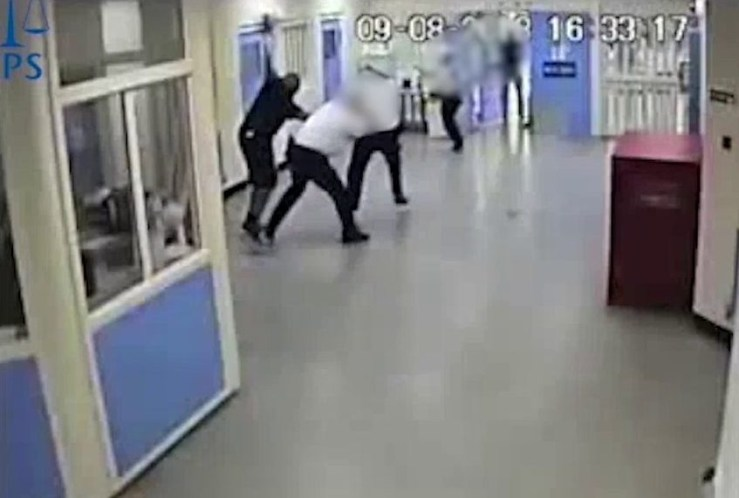 Shocking moment 20st prisoner dubbed 'one of Britain's most dangerous men' goes on ??15,000 'rampage' and is taken down by 100 riot officers after setting fire to kitchen Officers threw pyrotechnics and used Pava spray to distract the 6ft 2in convict They tried to bring him under control during eight-hour riot at HMP Full Sutton John Onyenaychi, 38, is a knifeman who tried to kill two police officers in 2010 Onyenaychi was jailed for another 6+ years to be s