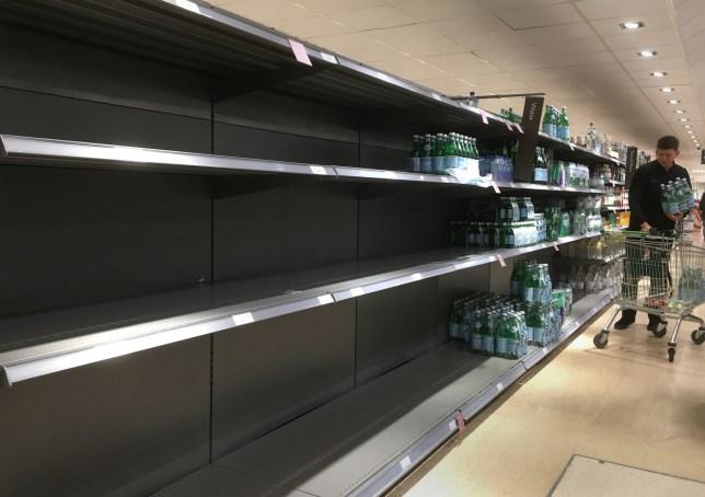 People start panic buying water after water main bursts