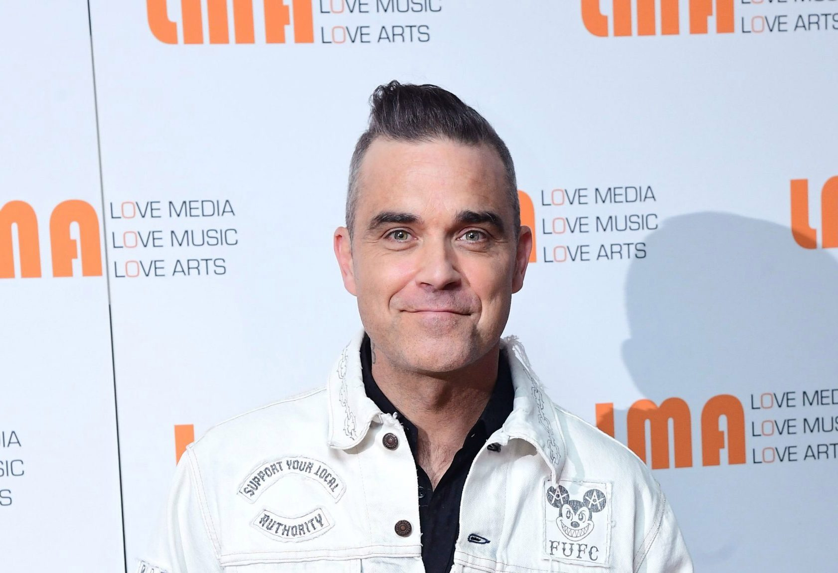 Robbie Williams during White City House