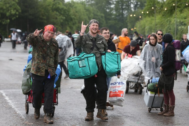 Punters are leaving this weekend's Download Festival before the music has even begun after torrential rain turned the site into a mudbath. Rock fans' tents and belongings were destroyed by downpours at the Donington Park campsite in Castle Donington, Leicestershire, over the last two days