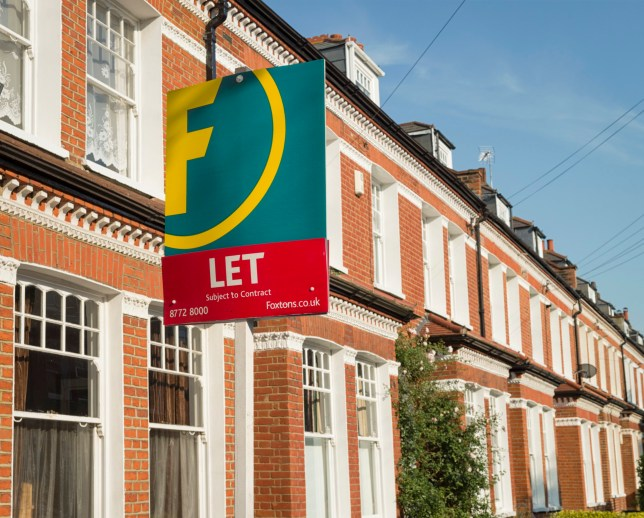 London, UK - September 3, 2012: A Foxtons estate agent sign advertising a rental property property in Balham, London.