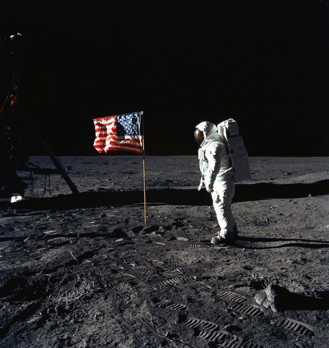 "This July 20, 1969, photo obtained from NASA and taken by Neil Armstrong, shows astronaut Buzz Aldrin on the Moon's Sea of Tranquility. - When the Saturn V rocket built by Wernher von Braun launched with the Apollo 11 capsule at its summit on July 16 1969, one million people flocked to watch the spectacle on the beaches of Florida near Cape Canaveral. But many had doubts that they'd succeed in landing this time. (Photo by Neil ARMSTRONG / NASA / AFP) / **RESTRICTED TO EDITORIAL USE - MANDATORY CREDIT ""AFP PHOTO / NASA"" - NO MARKETING - NO ADVERTISING CAMPAIGNS - DISTRIBUTED AS A SERVICE TO CLIENTS **TO GO WITH AFP STORY by Ivan Couronne, ""To the Moon and back: mankind's giant leap 50 years on""NEIL ARMSTRONG/AFP/Getty Images"