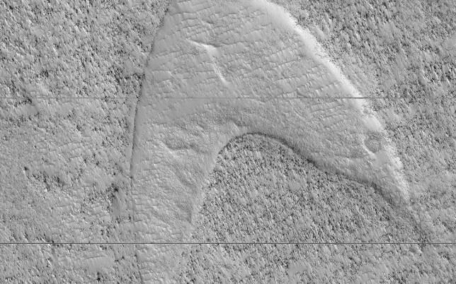 Nasa finds star trek logo on Mars