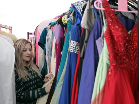 School sets up pop-up shop of 200 donated dresses to help students afford prom