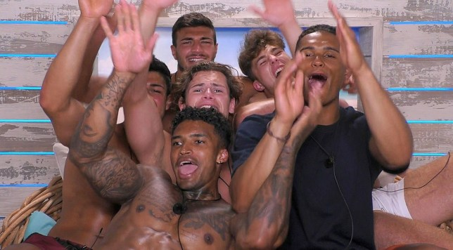 Love Island boys go on a spa day