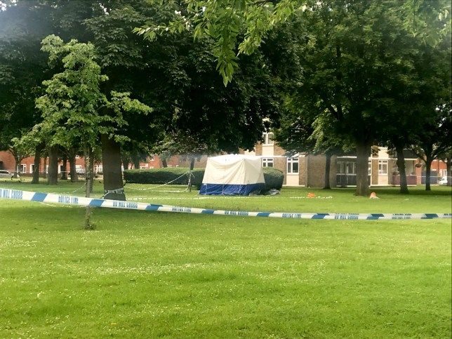 A police tent near to the scene in Deeside Road, Wandsworth, south-west London after a man, believed to be in his late teens, was fatally stabbed on Friday evening. PRESS ASSOCIATION Photo. Picture date: Saturday June 15, 2019. See PA story POLICE Murders. Photo credit should read: Emma Bowden/PA Wire
