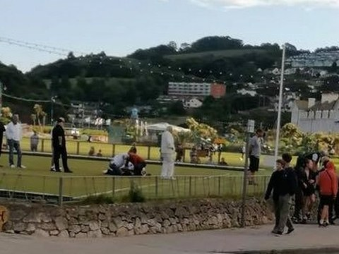 Bowls match stormed by teenagers 'armed with stones and chair'