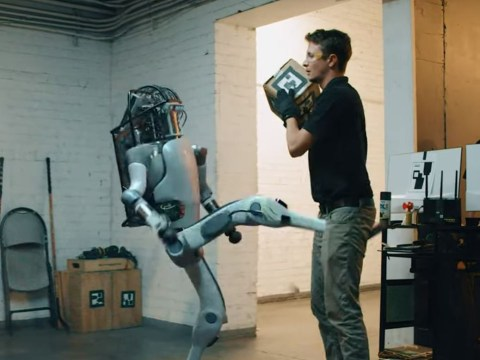 'Boston Dynamics' robot fights back against humans in viral video