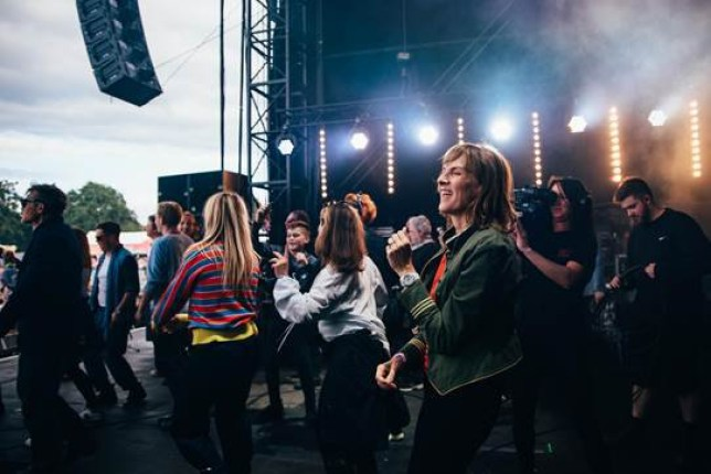 Fiona Bruce at Isle Of Wight festival