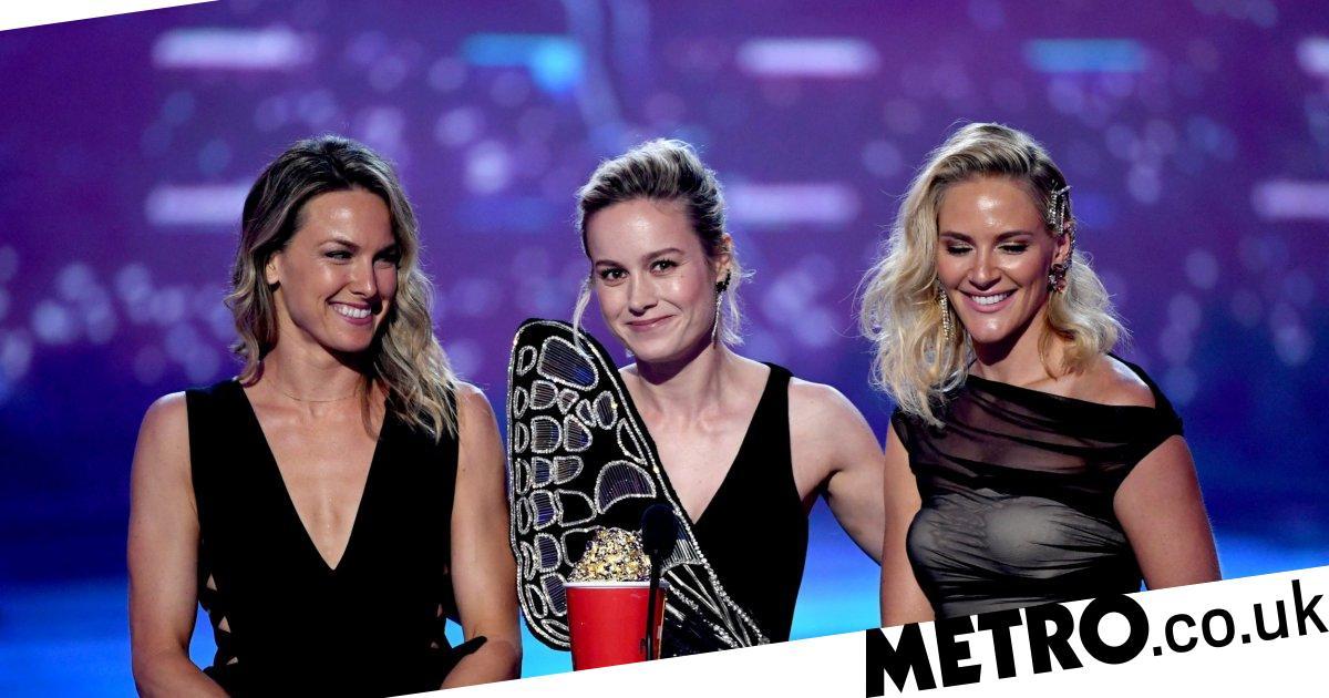 Brie Larson dedicates MTV Movie Award to Captain Marvel