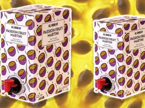 Attention, cocktail fans: Tesco is selling two-litre boxes of Passion Fruit Martini