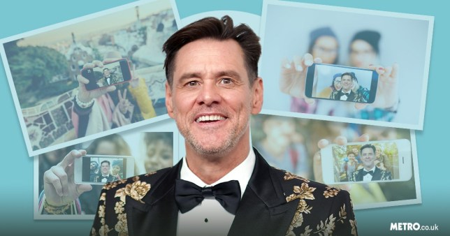 Jim Carrey with photos