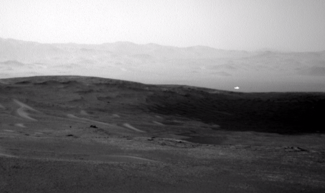 Nasa Curiosity Rover takes picture of mystery glowing ...