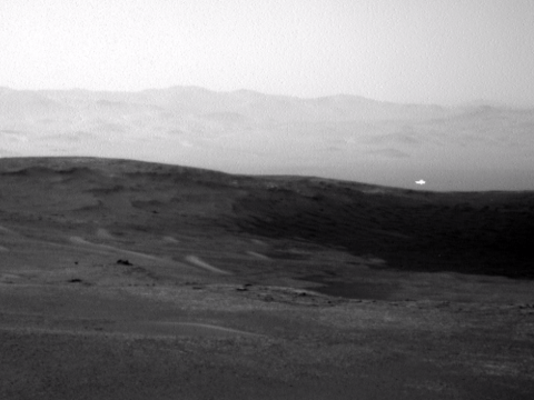 Nasa Curiosity Rover captures picture of mysterious glowing anomaly on Mars
