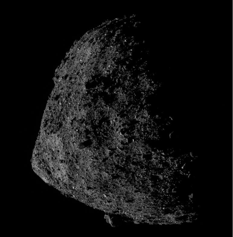 This is a ominous-looking 'apocalypse asteroid' Bennu (Image: Nasa)