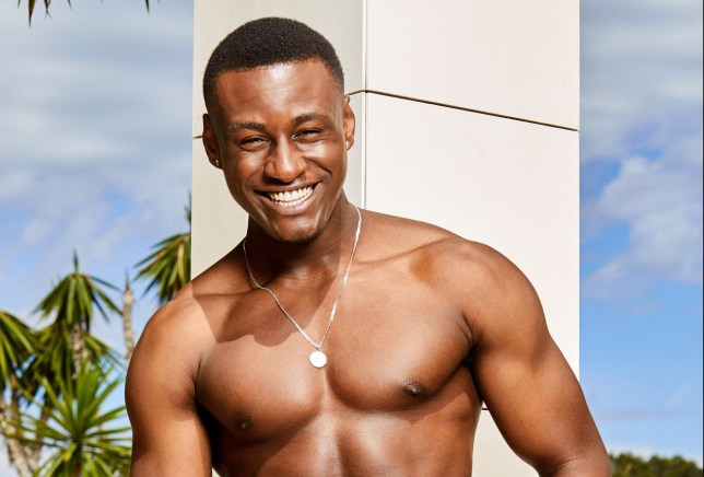 Sherif Lanre smiling for Love Island 2019 photoshoot