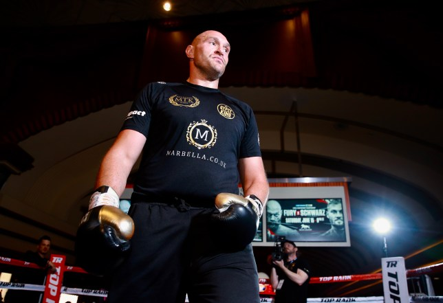 Tom Schwarz v Tyson Fury (Picture: Mikey Williams/Top Rank)