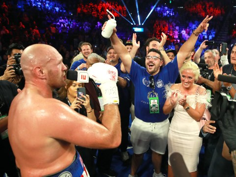 Tyson Fury serenades MGM crowd with AeroSmith's 'I Don't Want to Miss a Thing' after victory
