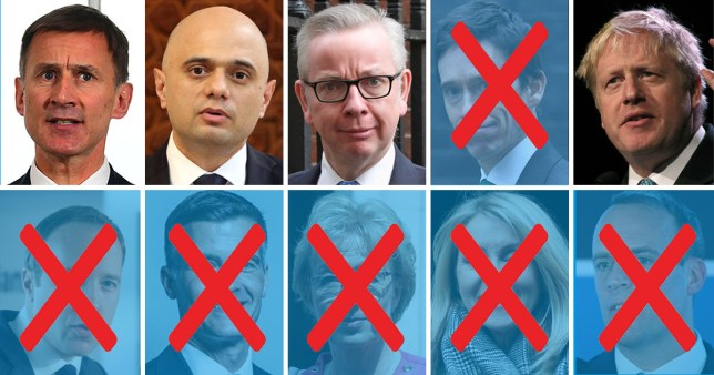 Just four MPs have been left in the Tory leadership race