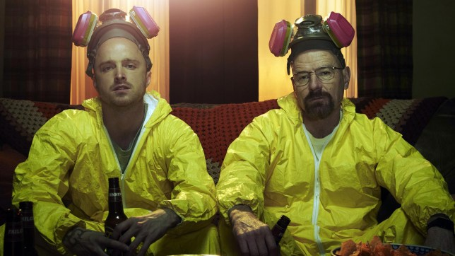 A scene from Breaking Bad with Bryan Cranston and Aaron Paul