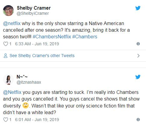 Netflix cancels Chambers after one season and viewers are