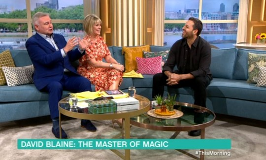 David Blaine on This Morning with Eamonn and Ruth