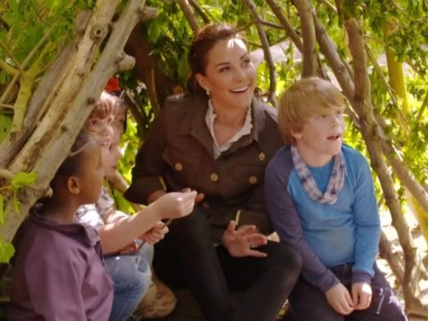 Duchess Of Cambridge gets competitive in den-building challenge on Blue Peter to earn second badge