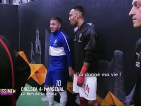 What Chelsea star Eden Hazard told Pierre-Emerick Aubameyang before Europa League final