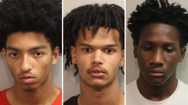 (L-R) Zaccheus Michael, Jacari Spencer and Demario Davis are accused of dragging a 15 year-old girl into a park bathroom and gang-raping her