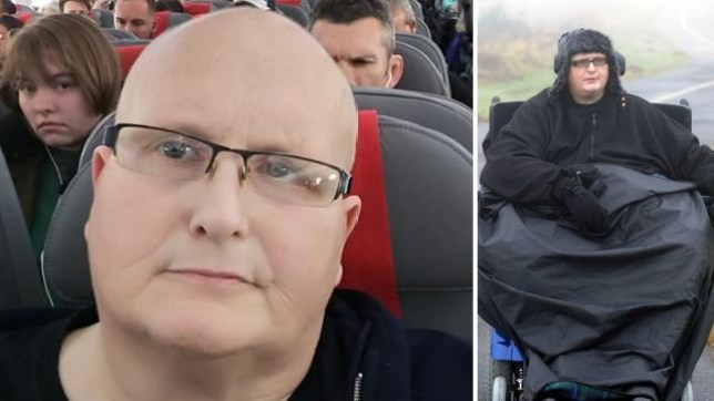 Paul Mason has returned to Britain from Boston for NHS treatment after his weight ballooned from 19 stone to 35 stone
