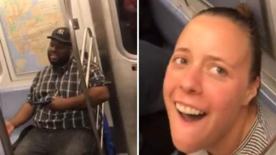 Train car full of strangers all join in Backstreet Boys singalong
