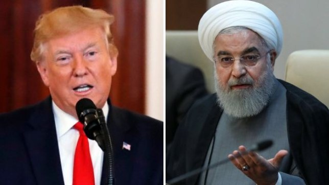 Donald Trump has threatened Iran and its president Hassan Rouhani, pictured, with 'obliteration' if they launch any further acts of aggression against US forces