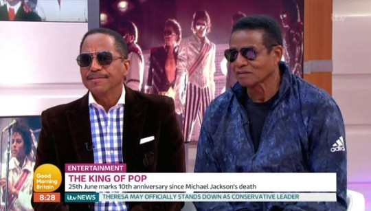 Marlon and Jackie Jackson on Good Morning Britain