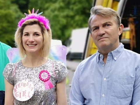 Jodie Whittaker turns up to set of Doctor Who season 12 in her birthday suit and Bradley Walsh's face says it all